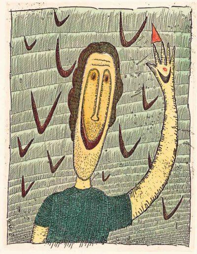 1997 Eugeniusz Józefowski, Stracony śmiech, 12,2 x 9,5 cm, intaglio