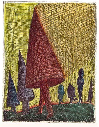 1997 Eugeniusz Józefowski, Zjawy, 12,2 x 9,5 cm, intaglio