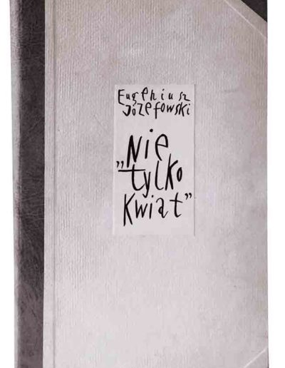 1998 1999 Eugeniusz Józefowski, Nie tylko kwiat, książka artystyczna harmonijkowa, akwarele na papierze czerpanym, format 24 x 47 x 1,8 cm 03