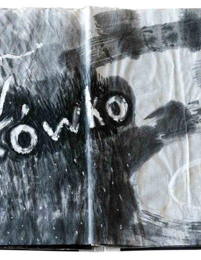 1998 1999 Eugeniusz Józefowski, Niewątpliwie krzepiące fakty, książka harmonijkowa, tusz na papierze ryżowym, format 36 x 36 x 1,5 cm_10