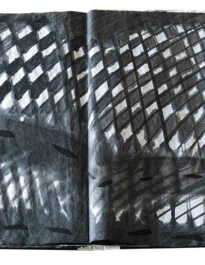 1998 1999 Eugeniusz Józefowski, Niewątpliwie krzepiące fakty, książka harmonijkowa, tusz na papierze ryżowym, format 36 x 36 x 1,5 cm_6