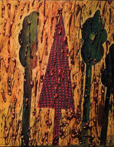 1998 Eugeniusz Józefowski, Inne drzewo, olej na płótnie, 30 x 40 cm