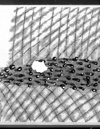 1998 Eugeniusz Józefowski, Ksiażka z dwóch podroży, tusz na papierze ryżowym, książka zwój format 900 cm x 28 cm 02