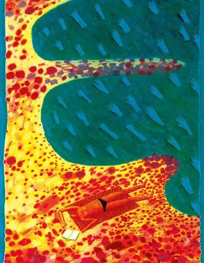 1998 Eugeniusz Józefowski, Na liguryjskim kocyku 144 x 88 cm