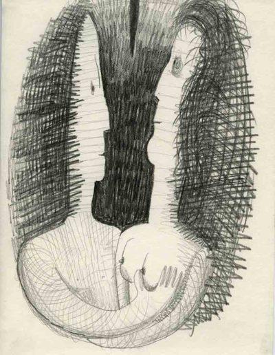 1998 Eugeniusz Józefowski, Parka, ołówek na papierze,30 x 21 cm