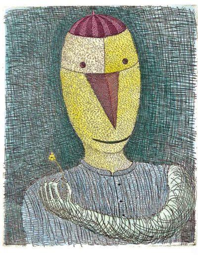 1998 Eugeniusz Józefowski, Ptasznik z gwiazdą, 21 x 17,5 cm, intaglio