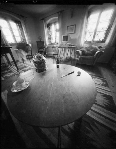 1998 Eugeniusz Józefowski, Stół w Kopańcu, pinhol, negatyw 4 x 5 cala