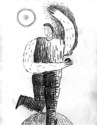 1998 Eugeniusz Józefowski, rysunek ołówkiem, 21 x 30 cm 010