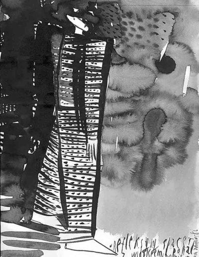 1998 Eugeniusz Józefowski, rysunek tuszem, 21 x 30 cm 001