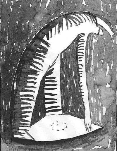 1998 Eugeniusz Józefowski, rysunek tuszem, 21 x 30 cm 002
