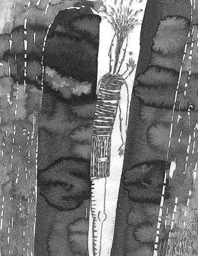 1998 Eugeniusz Józefowski, rysunek tuszem, 21 x 30 cm 003