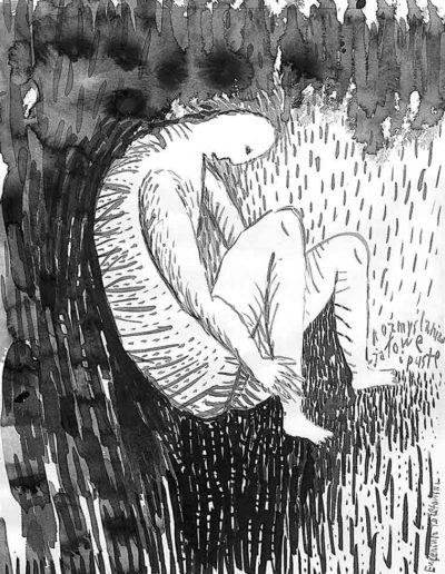 1998 Eugeniusz Józefowski, rysunek tuszem, 21 x 30 cm 004