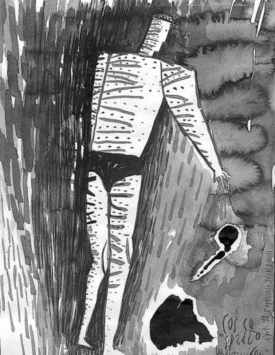 1998 Eugeniusz Józefowski, rysunek tuszem, 21 x 30 cm 006