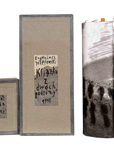 1998 Książka z dwóch podróży, pudełko i książka-zwój,