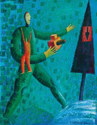 1998_2002 Eugeniusz Józefowski, Zdjęcie drzewa, olej na płótnie, 53 x 70,5 cm