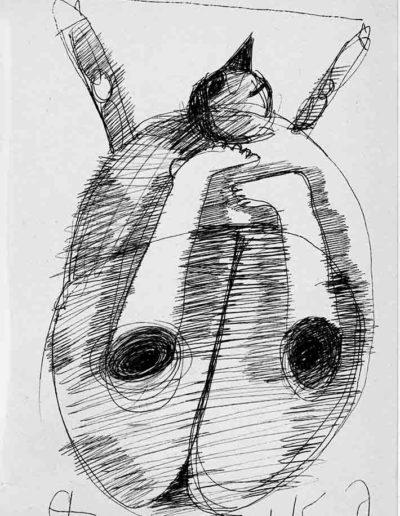 1999 2000 Eugeniusz Józefowski, Szkicownik warszawski,rysunek ołówkiem, format 10 cm x 15 cm, 05