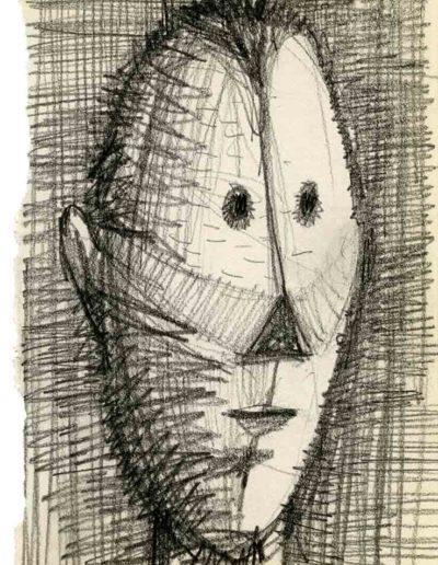 1999 2000 Eugeniusz Józefowski, Szkicownik warszawski,rysunek ołówkiem, format 10 cm x 15 cm, 14