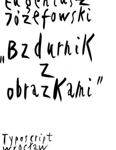 1999 Eugeniusz Józefowski, Bzdurnik z obrazkami, format 10,5 x 14 cm strona 01