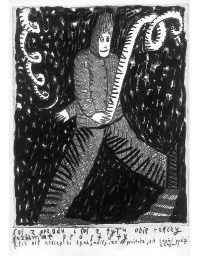 1999 Eugeniusz Józefowski, Bzdurnik z obrazkami, format 10,5 x 14 cm strona 19