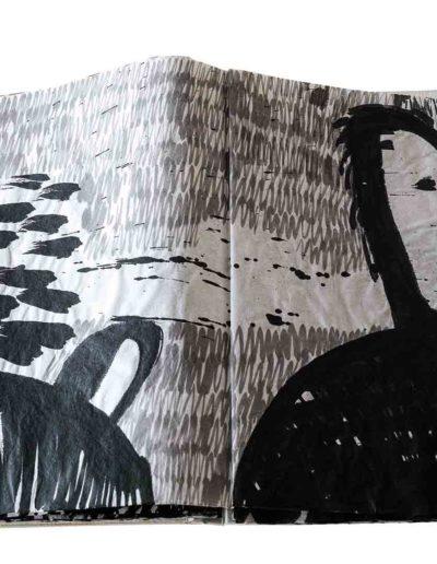 1999 Eugeniusz Józefowski, Energie interaktywne, książka harmonijkowa na papierze ryżowym, 35 stron format 28 x 36,5 x 1,5 cm 10