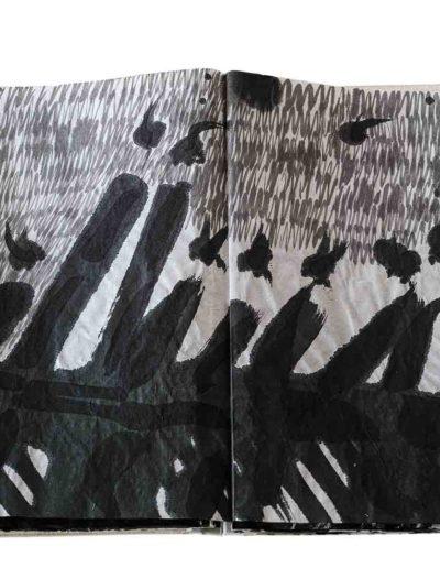 1999 Eugeniusz Józefowski, Energie interaktywne, książka harmonijkowa na papierze ryżowym, 35 stron format 28 x 36,5 x 1,5 cm 11