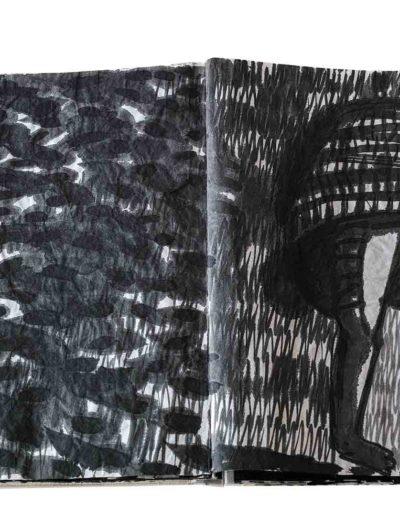 1999 Eugeniusz Józefowski, Energie interaktywne, książka harmonijkowa na papierze ryżowym, 35 stron format 28 x 36,5 x 1,5 cm 13