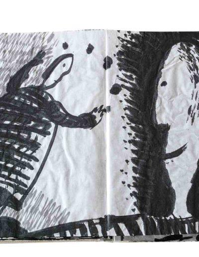 1999 Eugeniusz Józefowski, Energie interaktywne, książka harmonijkowa na papierze ryżowym, 35 stron format 28 x 36,5 x 1,5 cm 15