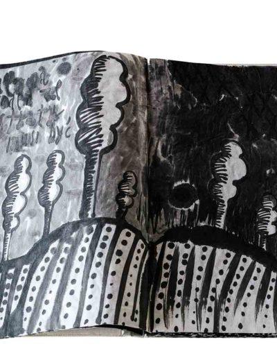 1999 Eugeniusz Józefowski, Energie interaktywne, książka harmonijkowa na papierze ryżowym, 35 stron format 28 x 36,5 x 1,5 cm 3