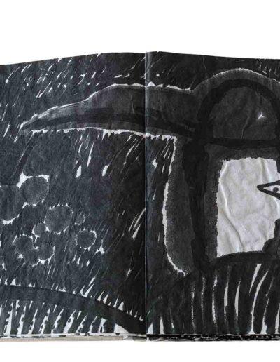 1999 Eugeniusz Józefowski, Energie interaktywne, książka harmonijkowa na papierze ryżowym, 35 stron format 28 x 36,5 x 1,5 cm 4