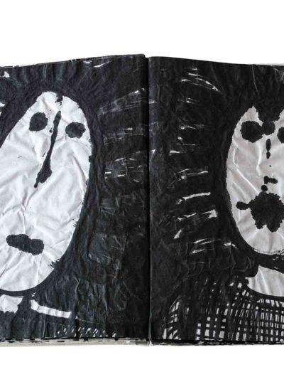 1999 Eugeniusz Józefowski, Energie interaktywne, książka harmonijkowa na papierze ryżowym, 35 stron format 28 x 36,5 x 1,5 cm 6