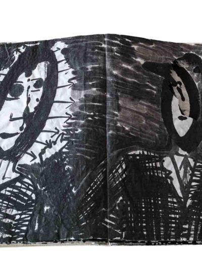 1999 Eugeniusz Józefowski, Energie interaktywne, książka harmonijkowa na papierze ryżowym, 35 stron format 28 x 36,5 x 1,5 cm 7