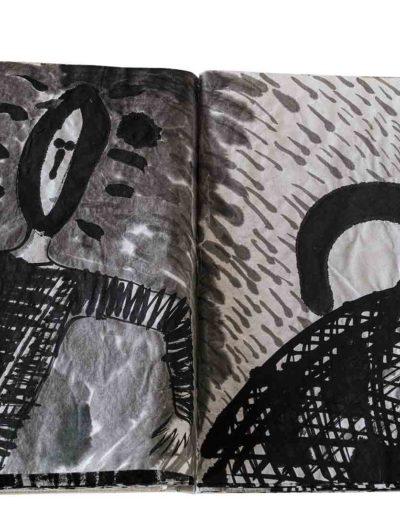 1999 Eugeniusz Józefowski, Energie interaktywne, książka harmonijkowa na papierze ryżowym, 35 stron format 28 x 36,5 x 1,5 cm 8