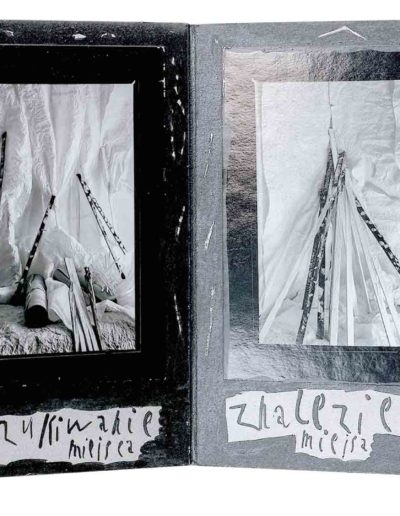 1999 Eugeniusz Józefowski, Kilka bądź kilkanaście, książka harmonijkowa - kolaż z fotografii naklejonych na tekturę z komentarzami, format 16 x 24 x 1,5 cm 01