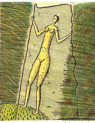 1999 Eugeniusz Józefowski, Kobieta w jasnym przejściu 2, 21 x 17,5 cm, intaglio
