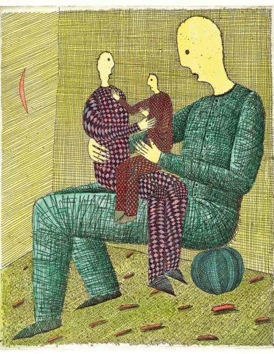 1999 Eugeniusz Józefowski, Po trzykroć sam, 21 x 17,5 cm intaglio