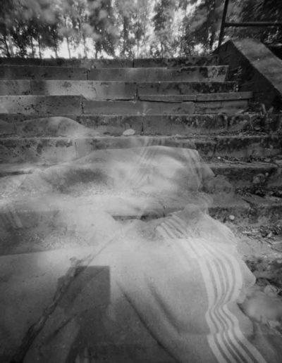 1999 Eugeniusz Józefowski, Senne spadanie, pinhol, negatyw 4 x 5 cala