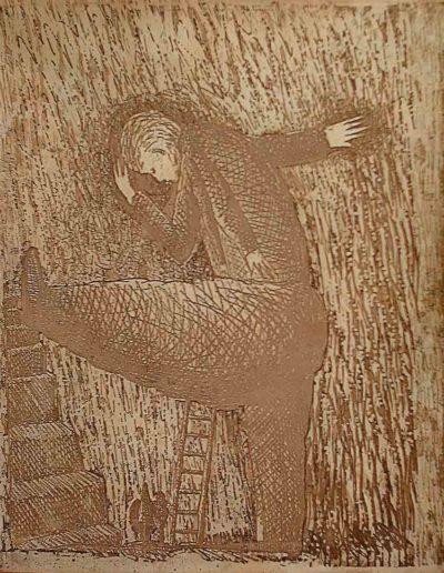 1999 Eugeniusz Józefowski, Strona matryca książki z metalu 21 (2)
