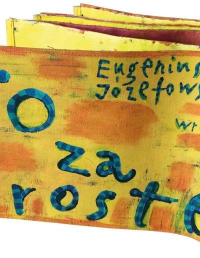 1999 Eugeniusz Józefowski, To za proste, książka harmonijkowa, akryl na płótnie obustronnie malowanym, 23 x 35 x 5,5 cm 01