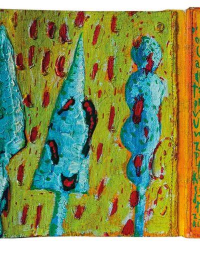 1999 Eugeniusz Józefowski, To za proste, książka harmonijkowa, akryl na płótnie obustronnie malowanym, 23 x 35 x 5,5 cm 10