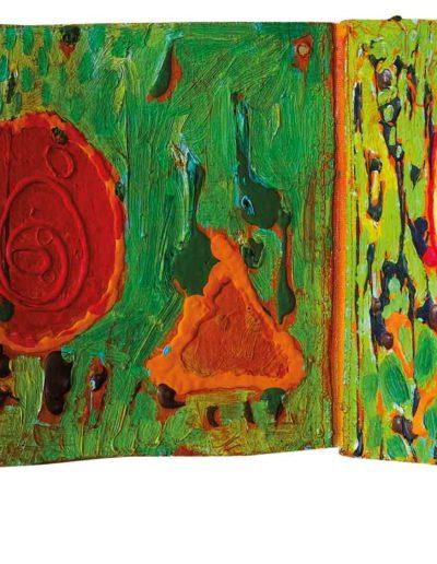 1999 Eugeniusz Józefowski, To za proste, książka harmonijkowa, akryl na płótnie obustronnie malowanym, 23 x 35 x 5,5 cm 11