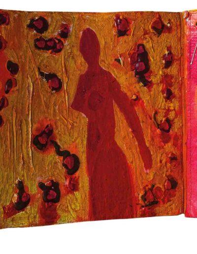 1999 Eugeniusz Józefowski, To za proste, książka harmonijkowa, akryl na płótnie obustronnie malowanym, 23 x 35 x 5,5 cm 12