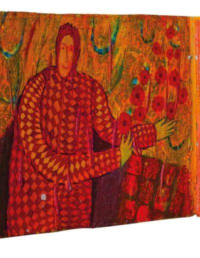 1999 Eugeniusz Józefowski, To za proste, książka harmonijkowa, akryl na płótnie obustronnie malowanym, 23 x 35 x 5,5 cm 13