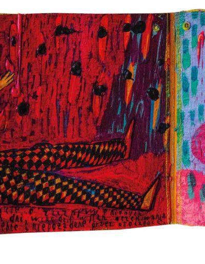1999 Eugeniusz Józefowski, To za proste, książka harmonijkowa, akryl na płótnie obustronnie malowanym, 23 x 35 x 5,5 cm 14