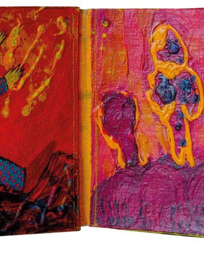 1999 Eugeniusz Józefowski, To za proste, książka harmonijkowa, akryl na płótnie obustronnie malowanym, 23 x 35 x 5,5 cm 16