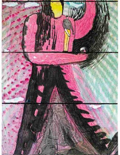1999 Mały Pikuś mieszka w każdym z nas, książka artystyczna dwuczęściowa, tusz na papierze ryżowym naklejonym na tekturę i płótno, format 29, 5 × 64 × 4 cm 2