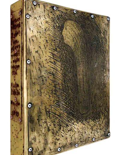 1999 ZBIÓR Z głową i bez głowy – opowieści o magiku codziennym, czyli o Małym Pikusiu, pudełko-etui na strony-matryce dla książki zawierającej strony od 20 do 29, 21 × 27,5 × 5 cm,