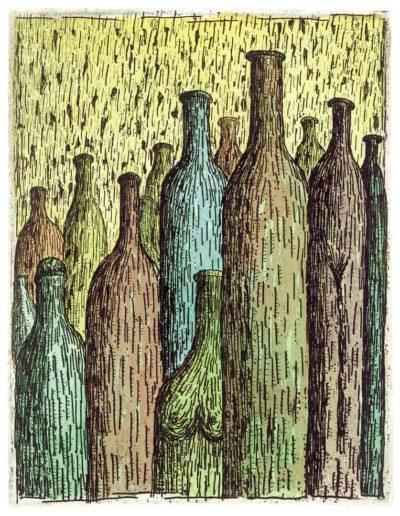 2000 Eugeniusz Józefowski, Empatyczne butelki, 15,5 x 12 cm, intaglio