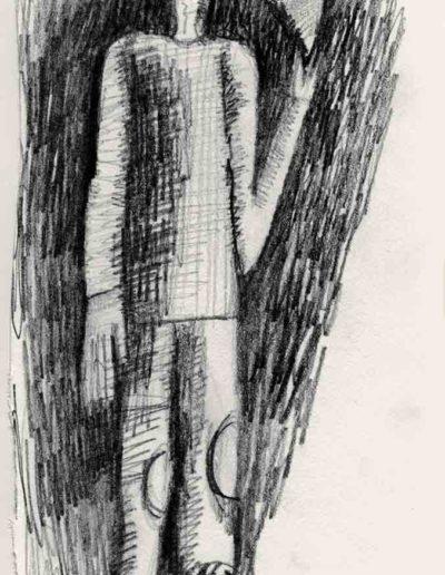 2000 Eugeniusz Józefowski, rysunek ze szkicownika, 10 x 15 cm 02