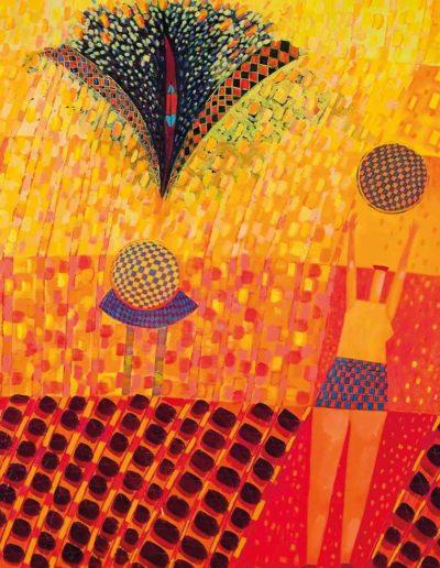 2005 Eugeniusz Józefowski, Dwie kobiety 100 x 120 cm