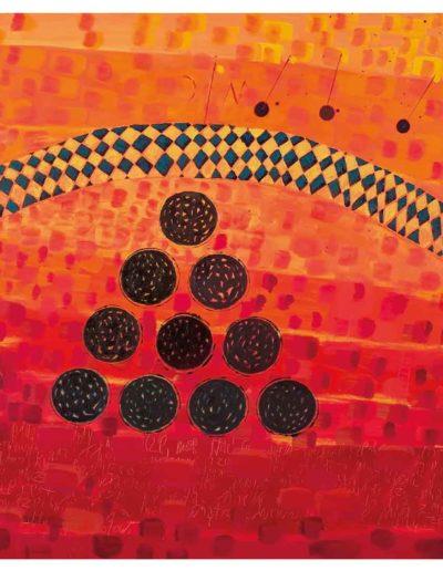 2005 Eugeniusz Józefowski, Jakim zmysłem uchwytujemy fakt wolności 70 x 180 cm